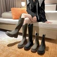 womens boots chunky heel ankle shoes luxury brand high quality heels fashion 2021 female platform fur botas de mujer