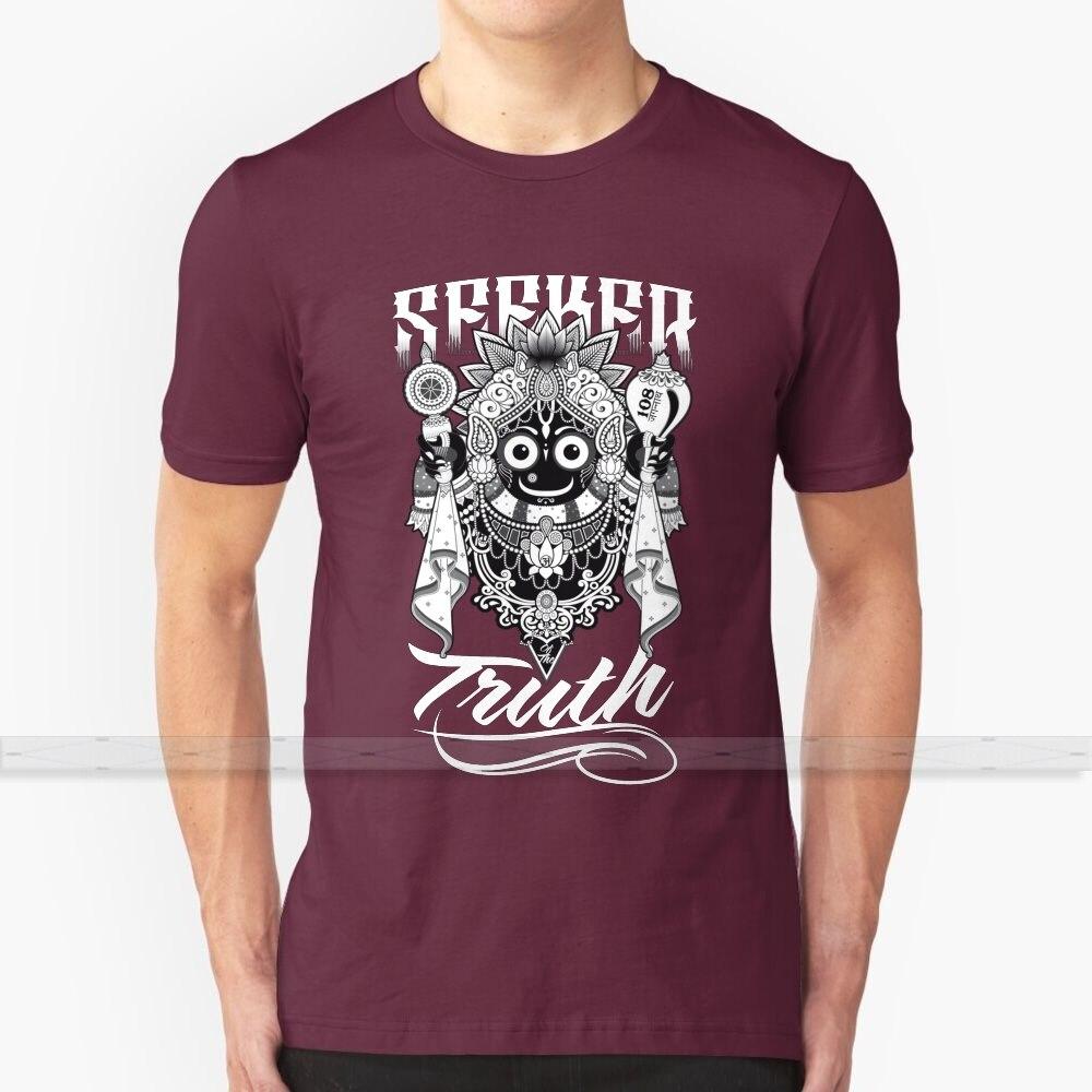 Camiseta Seeker Of The Truth para hombre y mujer, camisetas de algodón de verano, Camisetas talla grande S - 6XL Jagannatha Krishna Vishnu Yoga de hinduismo