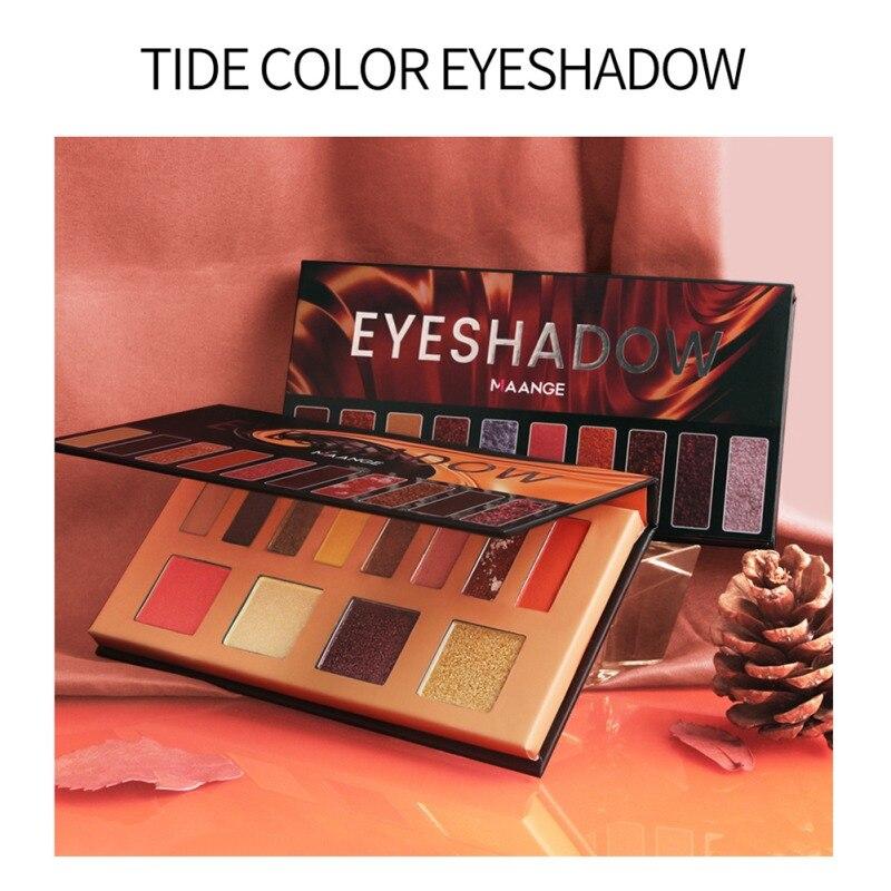 12 Colors Eyeshadow Pallete Glitter Pigment Eye Shadow Palette Long Lasting Waterproof Makeup Pallete