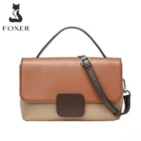 foxer small handle crossbody bags for women cow leather soft lady shoulder bags solid color slmple handbags female phone purse