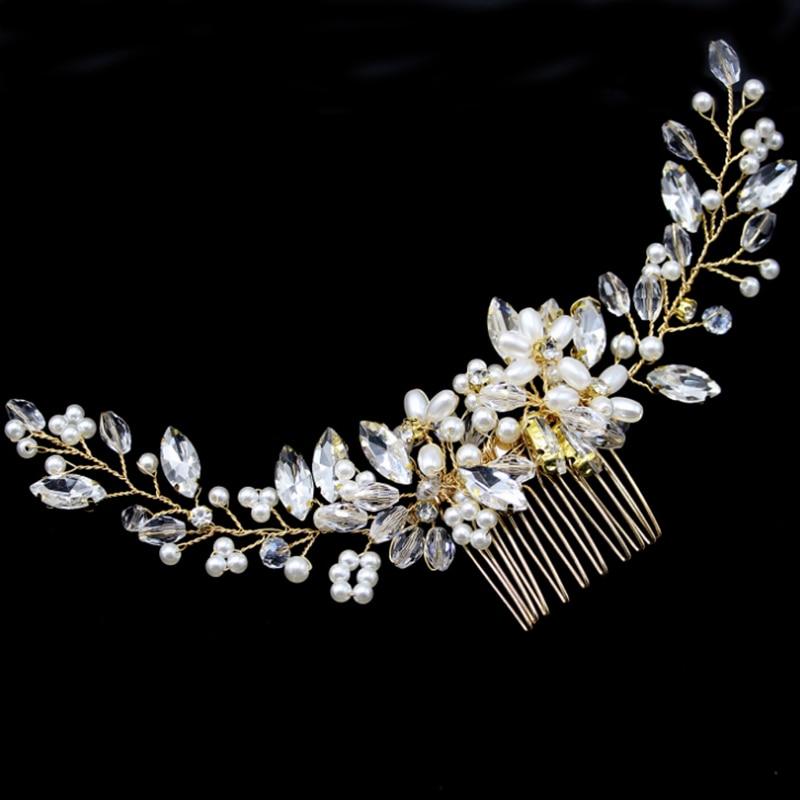 Роскошные шпильки для волос для невесты заколки, аксессуары ручной работы жемчужные свадебные украшения для волос вечерние Pom Свадебная Зв...