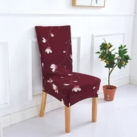 spandex elastic printing dining chair slipcover modern removable anti dirty kitchen seat case stretch chair cover for banquet