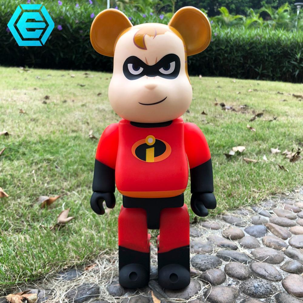 Haute qualité offre spéciale Bearbrickly 400% PVC ours blocs 11 pouces 28cm poupées à collectionner sésame rue Super héros cadeaux modèle jouets