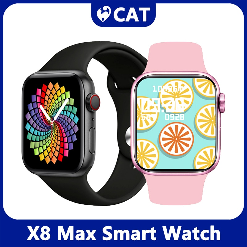 2021 X8 Max Smart Watch 1.75inch Custom Dia BT Call Sports Sleep Monitor Heart-rate Men Woman Smartwatch Smart Band Brecelet New