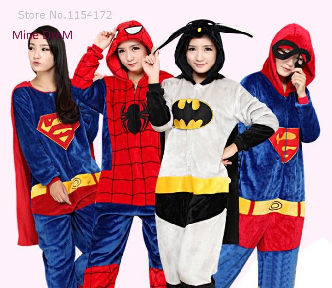 Halloween Party Cosplay Kigurum Erwachsene Onesies Avengers Batman/Iron man/Super-mann/Captain America Hero Kostüme pyjamas Nachtwäsche