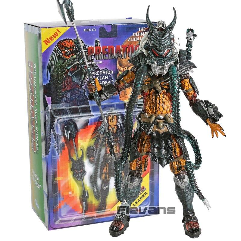 NECA-figuras de acción Predator Clan Leader Ultimate, juguete de modelos coleccionables