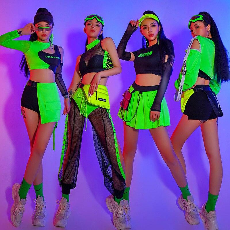 شريط Ds أداء الملابس جديد ملهى ليلي Gogo الرصاص ملابس الرقص الأخضر مثير الجاز الهيب هوب أزياء رقص مهرجان وتتسابق DN8475