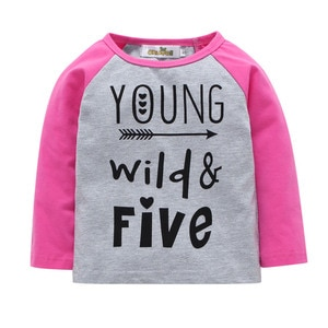 Children's clothing spring and autumn new girl letter long-sleeved T-shirt fashion cotton casual top toddler girl clothes