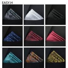 Accessoires Paisley mouchoir Vintage   Nouveau mouchoir carré de poche, couleurs unies costume daffaires Vintage foulard de sein 25*25cm