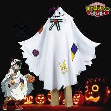 Boku No My Hero Academia Midoriya Izuku Deku Cosplay Costume Cute Cloak Cape for Halloween Christmas / Black Green Mixed Wig