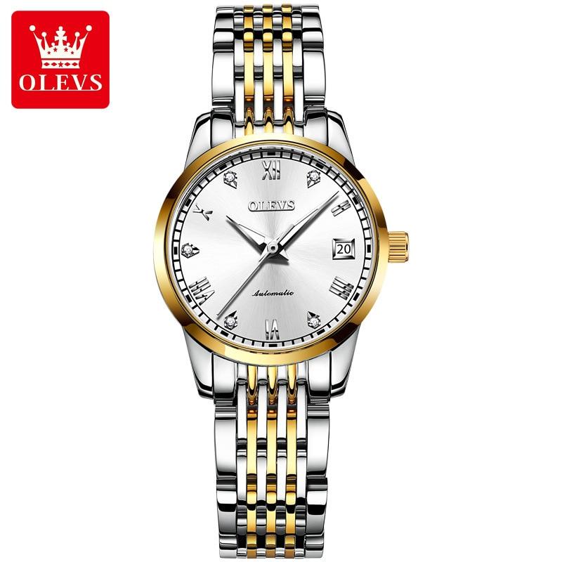 Automatic mechanical watch fashion diamond ladies watch female luminous, calendar watch enlarge