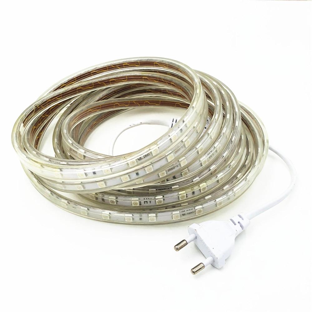 Светодиодные ленты на открытом воздухе Водонепроницаемый теплый белый SMD Светодиодные ленты SMD 5050 Светодиодные ленты светильник 1 м 2 м 5 м 10 ...