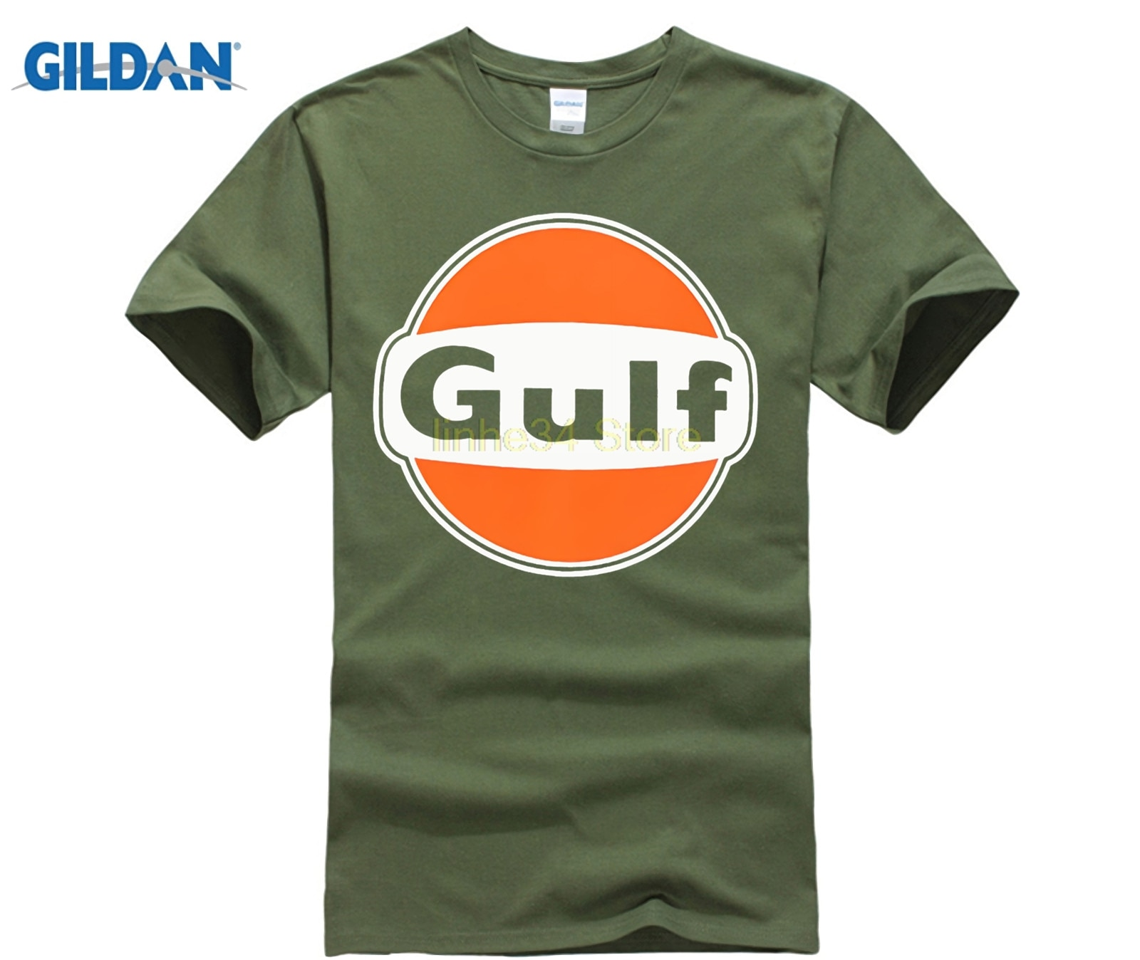 GILDAN, auténtico T-SHIRT-BLUE-LE de aceite del Norte, para hombre, XS, S, M, L, XL-XXL-XXXL, Envío Gratis a Reino Unido