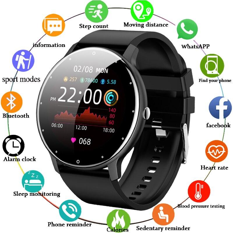 LIGE 2021 جديد الرجال ساعة ذكية في الوقت الحقيقي نشاط المقتفي مراقب معدل ضربات القلب الرياضة النساء ساعة ذكية الرجال على مدار الساعة لنظام أندرو...