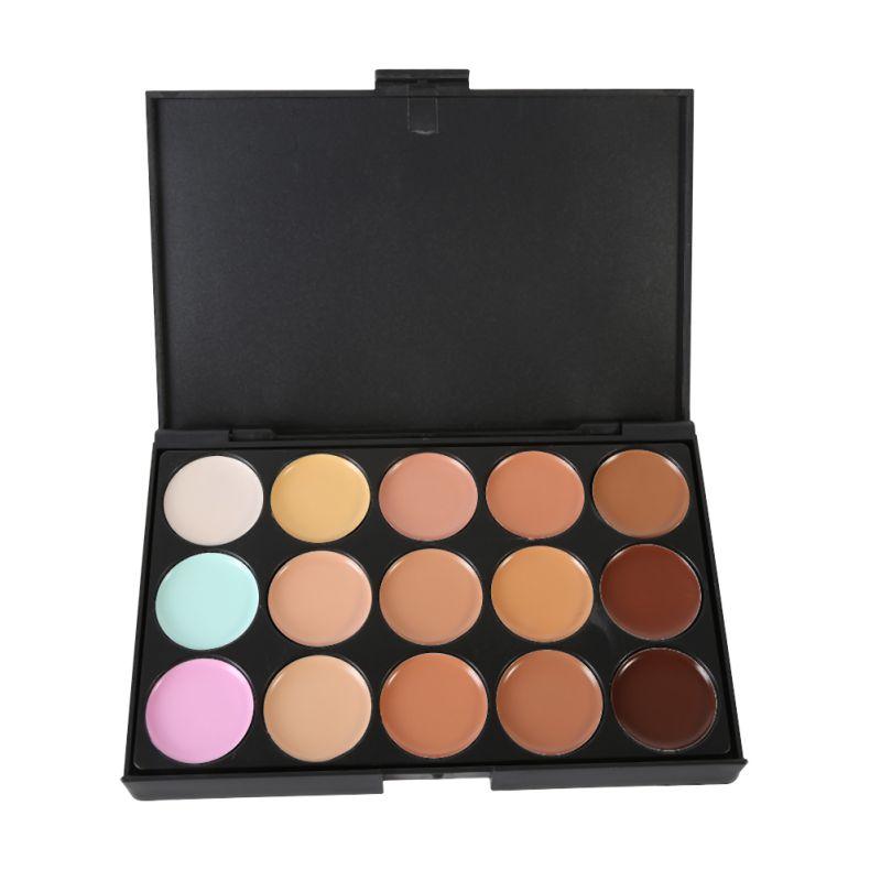 15 couleurs Maquiagem professionnel Salon correcteur Palette maquillage fête Palette visage crème femmes maquillage Palette H01