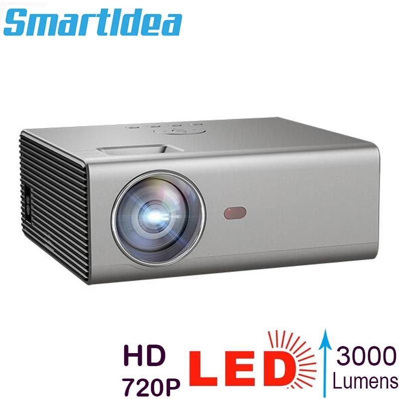 Smartldea-miniproyector HD Native, 1280x720P, LCD, compatible con Full HD, 1080p, Cine en...