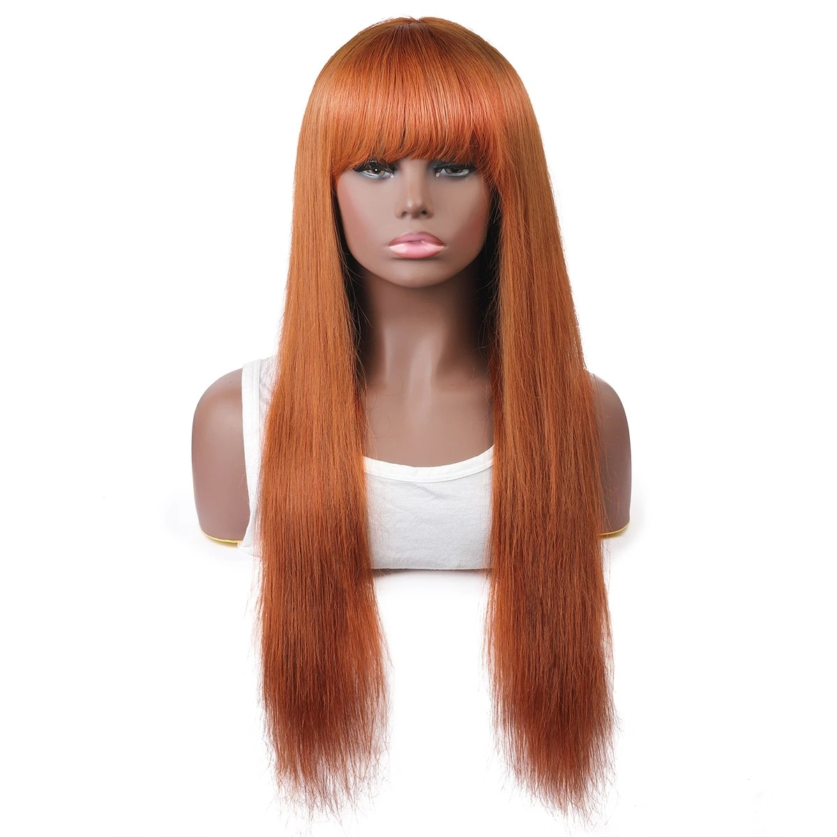 Remy Human Hair Capless costume Wig full Part style Brazilian Hair Straight Wig 130% Density with Baby Hair Natural Hairline