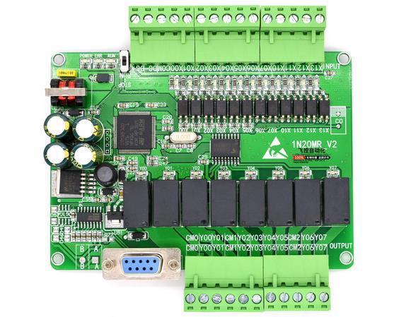 Placa de Control Industrial PLC MCU placa de relé controlador programable FX1N-20MR