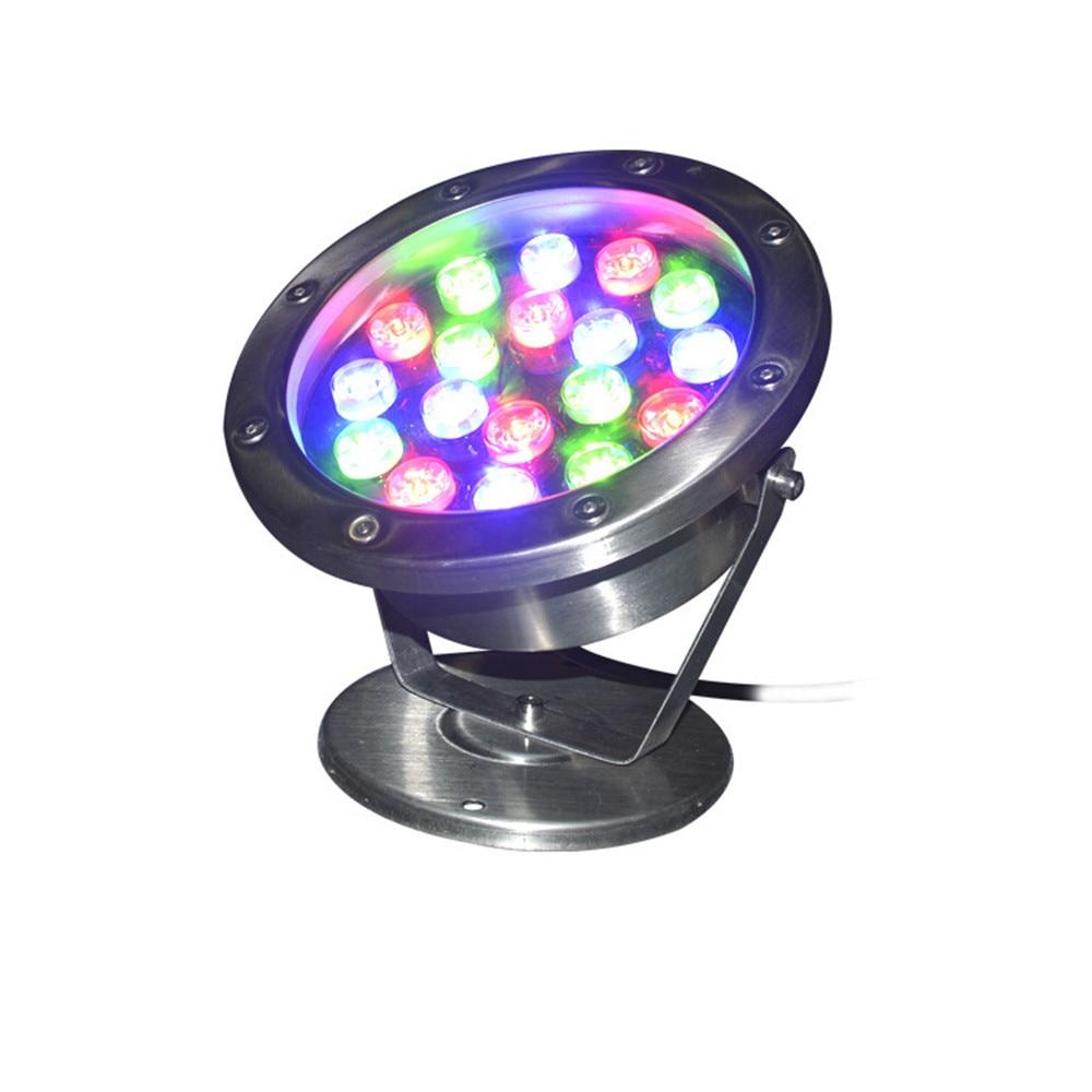 Pool LED Rgb Colorful Underwater Light Landscape Lighting Stainless Steel Fountain Light Spotlights 15W 18w 12v 24v IP68 Lamps enlarge