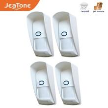 JeaTone 433Mhz Drahtlose PIR Sensor Infrarot Außen Motion Detektor mit Haustier Immun Wasserdicht für Home Security Alarm System