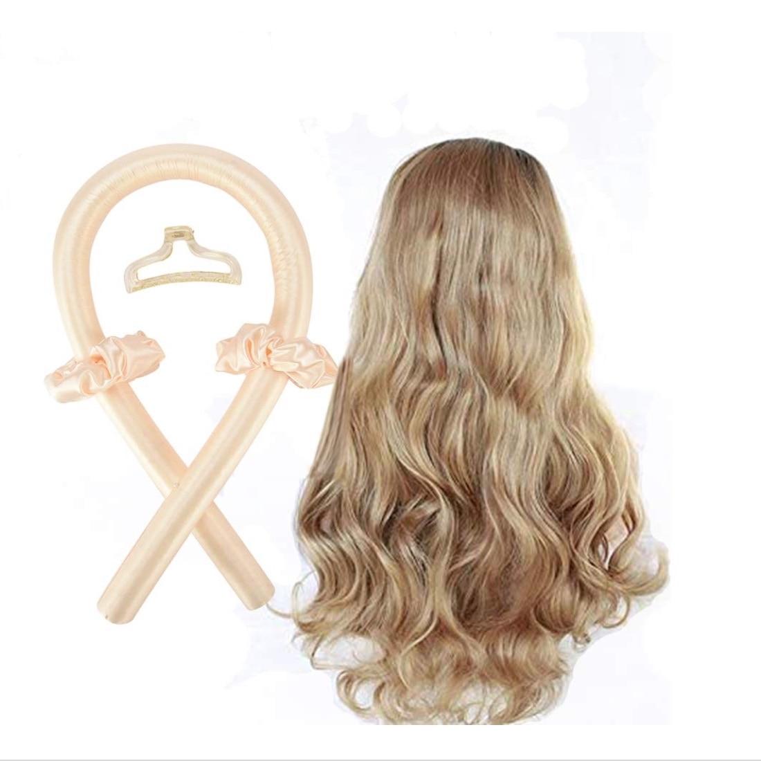 4PCS/Set Heatless Hair Curlers For Long Hair To Sleep In Overnight and No Heat Silk Curls Headband w