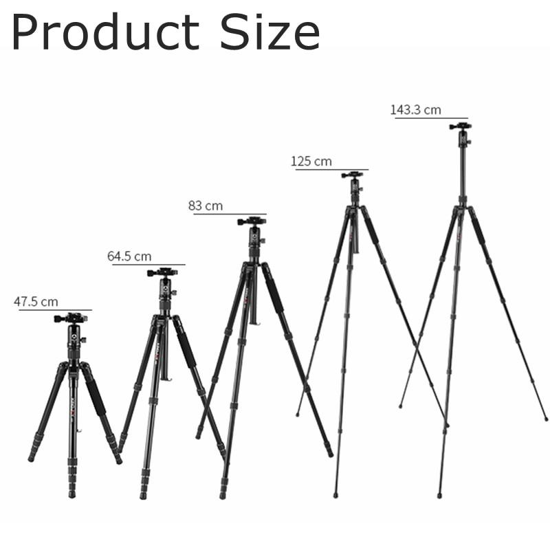 Camera Tripod Professional for Canon Nikon Sony DSLR Portable Lightweight Photography Stand Camera Monopod Aluminum Ball Head enlarge