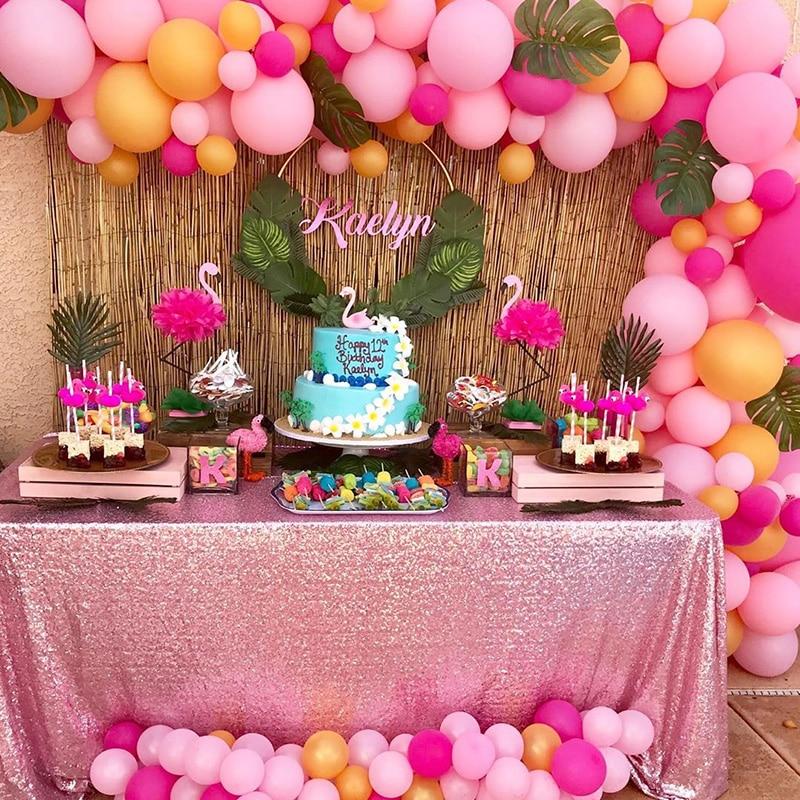 WEIGAO verano Flamingo Tropical Luau fiesta decoración de piña Flamingo globos de papel de aluminio playa fiesta de piscina flotante fiesta hawaiana a Favor