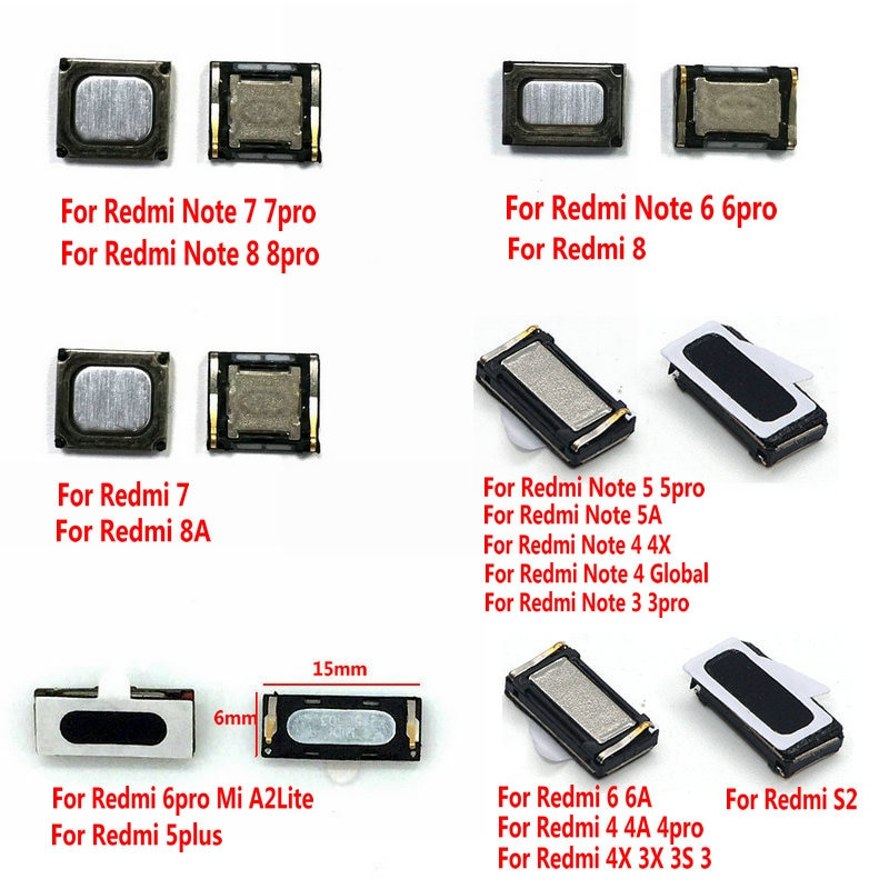 Новые Встроенные наушники, динамик для XiaoMi Redmi Note 8 7 6 5 5A Redmi 8A 7A 6A 5 4 4X 4A 3 3X 3S Pro S2 Global