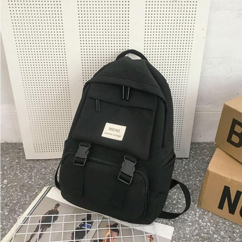 Женский рюкзак HOCODO, однотонная школьная сумка для девочек-подростков, дорожная сумка с несколькими карманами из нейлона, рюкзак Mochila, 2019