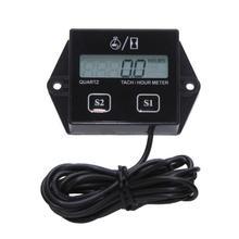A gasolina motor tacômetro temporizador bateria substituível indutivo display digital 2 4 tempos acumulando temporizador