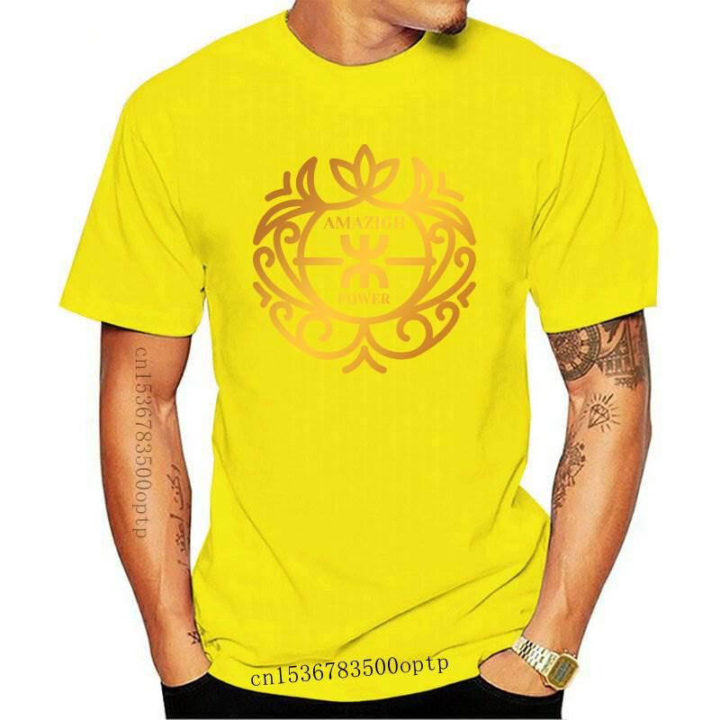 Neue Amazigh Power T Shirt T Hemd Berühmte Solide Farbe Authentische Sommer Stil Runde Kragen Standard Schaffen Hemd