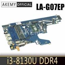 Akemy L20374-601 L20374-001 EPK50 LA-G07EP dla HP 15-DA 15-da0073wm płyta główna do laptopa z SR3W0 i3-8130U DDR