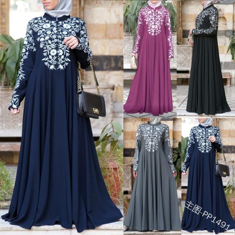 Ropa islámica para mujeres Abaya árabe musulmán Hijab Vestido largo de caftán túnica musulmana Longue Vestidos Dubai Jurk Maxi Vestidos