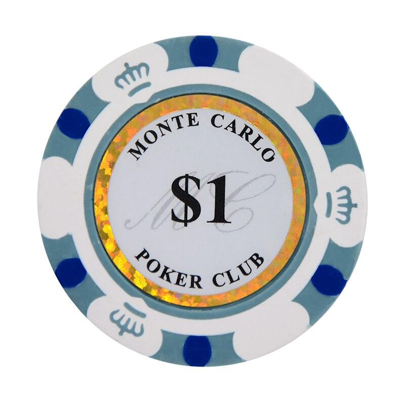 Глиняные фишки для покера, 14 г, набор, глиняные казино монеты 40 мм, монеты для покера, фишки для развлечения, долларовые монеты, 3 шт./лот