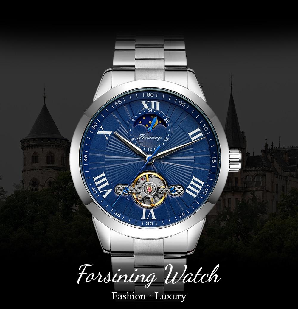 2021 New Forsining Tourbillon Design Automatic Mechanical Men's Watches Fashion Casual Waterproof Bu