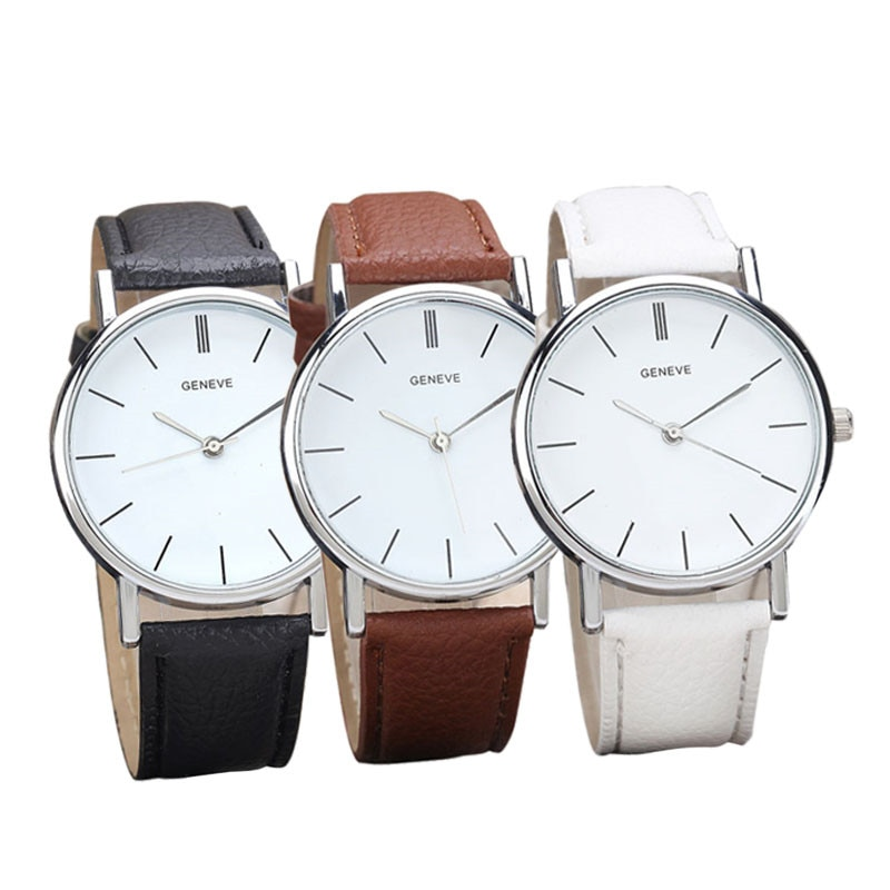 Dress Casual Men Women Watch Womens Retro Design Leather Band Analog Alloy Quartz Wrist Watch Relogi
