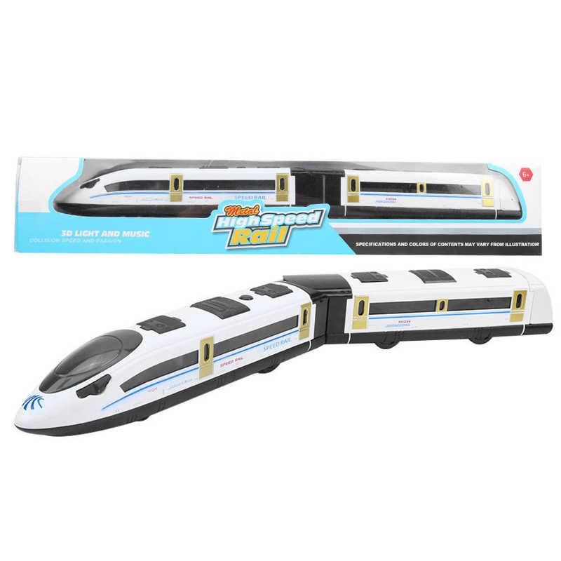 Balles électriques Trains modèle 45cm alliage Trains à grande vitesse modèle avec musique légère