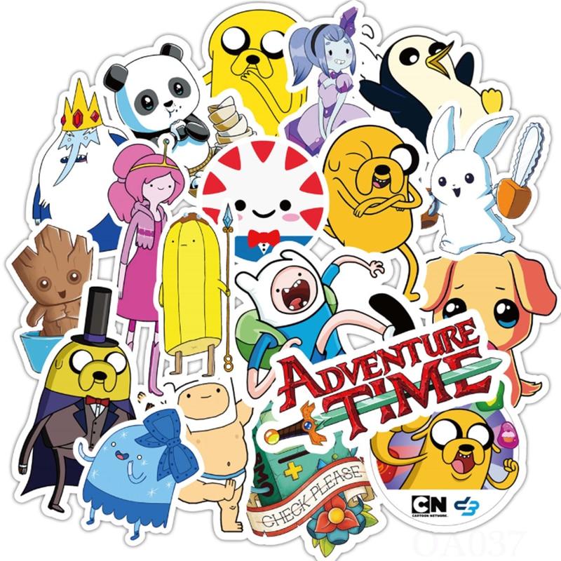 10/30/50 PCS Adventure Time Animation Character Graffiti Waterproof Trolley Case Waterproof Sticker Decorative Toy Wholesale фото