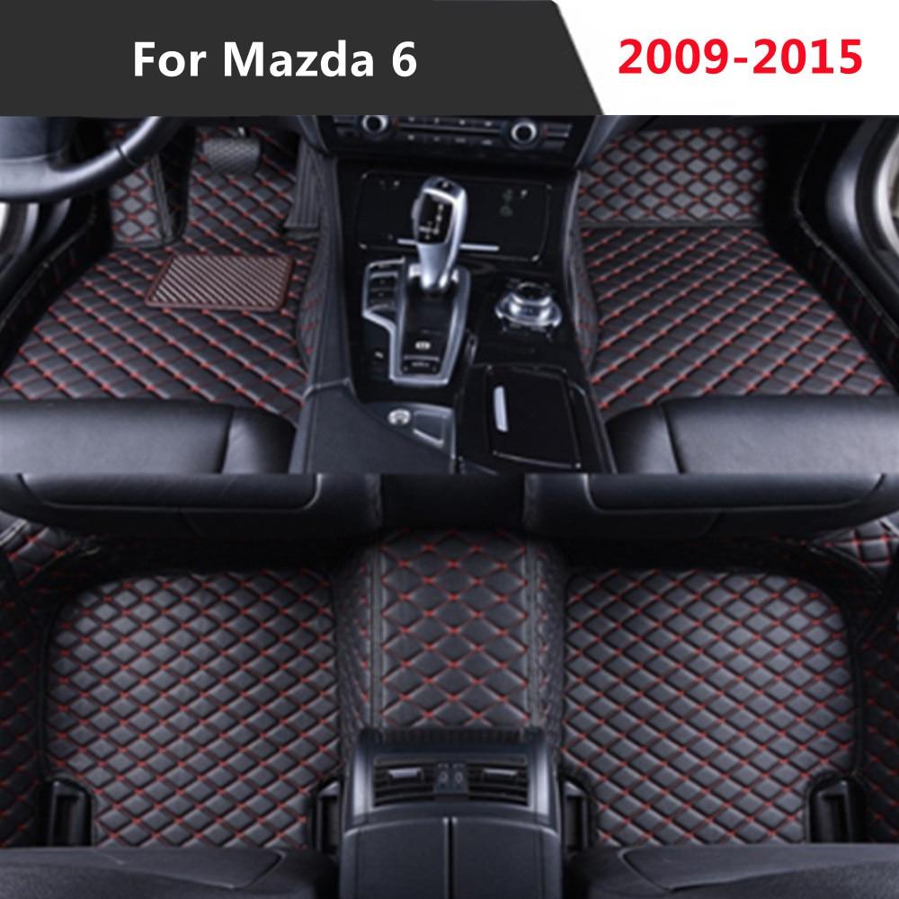 Para Mazda mazda6 (2009-2015) 2010-11-12-2013-2014-todos los años de cuero Auto alfombrilla de...