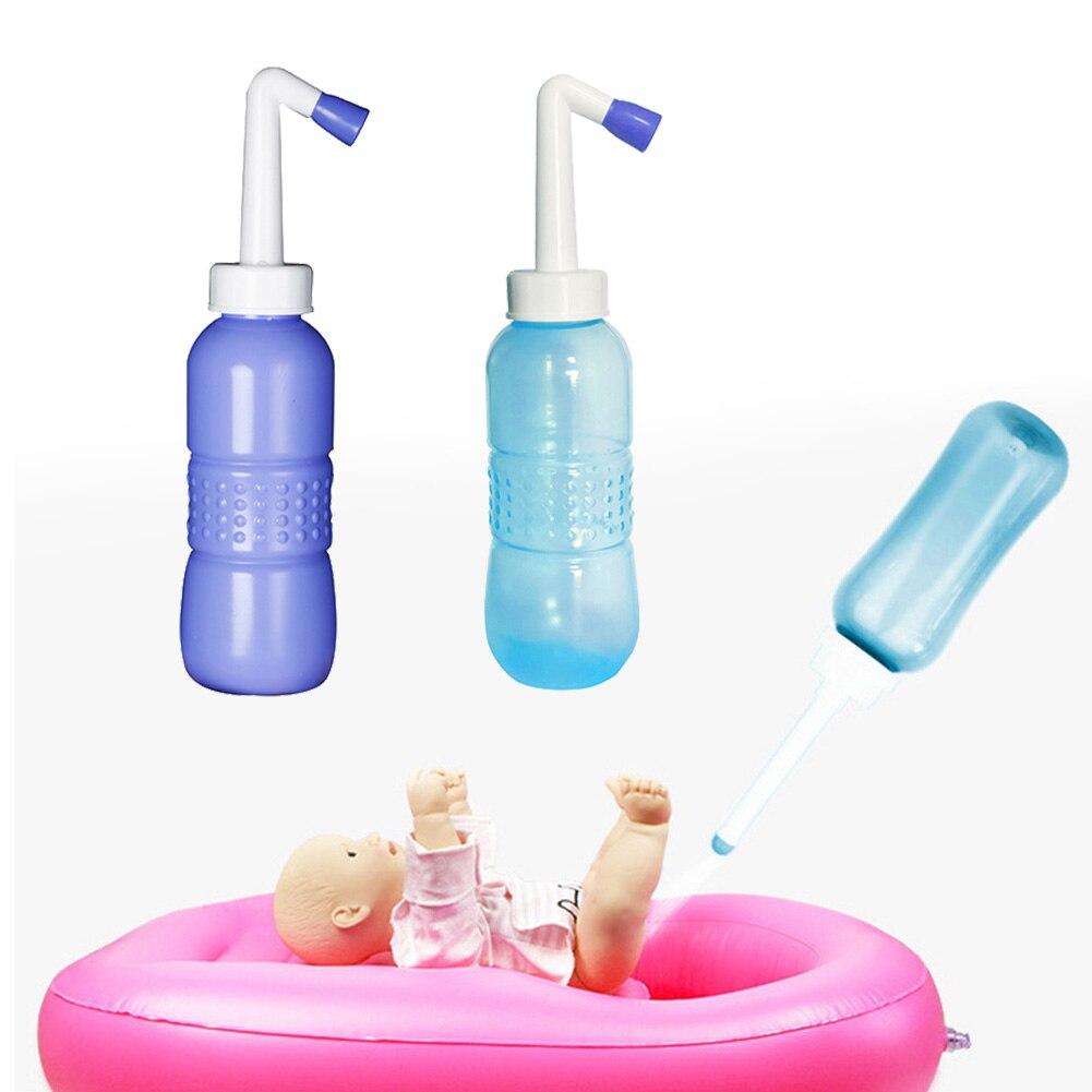 Lavador de culo de viaje antideslizante para ancianos para el hogar 450ml ano botella para limpiar mujeres embarazadas bebé limpiador tipo Bidet portátil de mano Personal