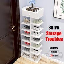 Armario de zapatos multicapa para el hogar, ahorro de espacio, unidad de almacenamiento de zapatos, estante de puerta de armario, organizador de muebles