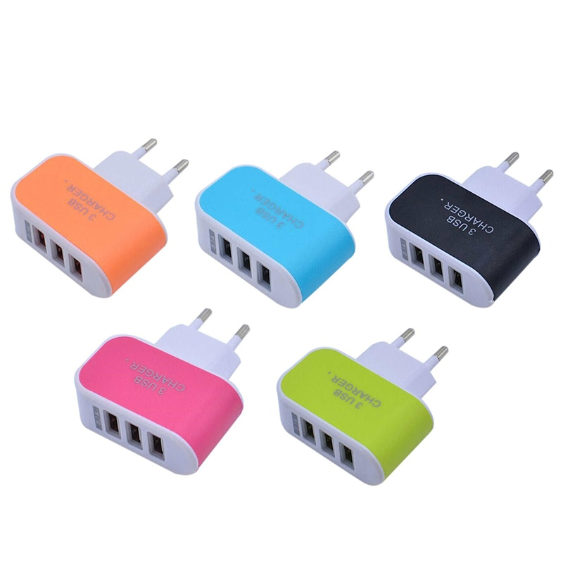 3usb portas usb adaptador de carregador plugue da ue multi adaptador de energia portátil viagem parede ac carregador para iphone xiaomi samsung redmi