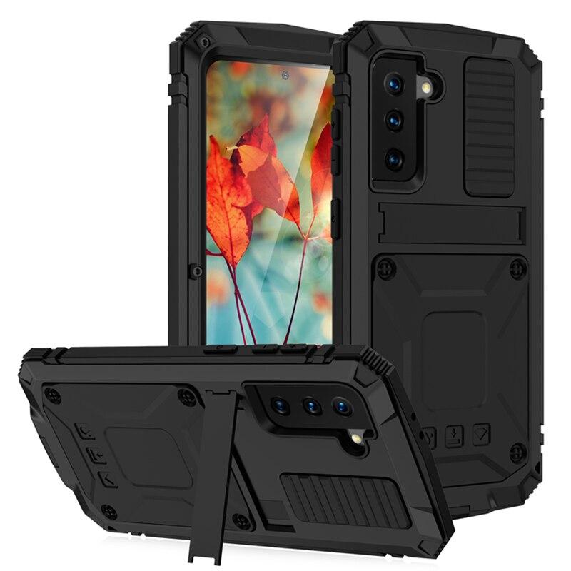 جراب هاتف Samsung Armor 360 ، جراب معدني مقاوم للصدمات لهاتف Galaxy S21 ، S20 Plus ، Note 20 Ultra ، A32 ، A72 ، A52 ، 5G ، 4G