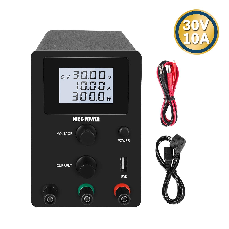مزود طاقة منظم ، 220 فولت 0-30 فولت 0-10 أمبير تيار مستمر ، تحويل ، مصدر مثبت للجهد