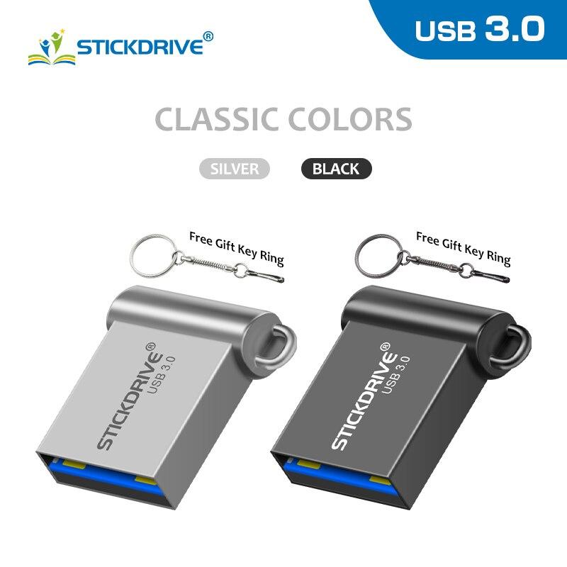De alta velocidad de flash drive 16GB 32GB Pendrive usb flash drive 64GB 128GB super mini palos con cadena de llavero