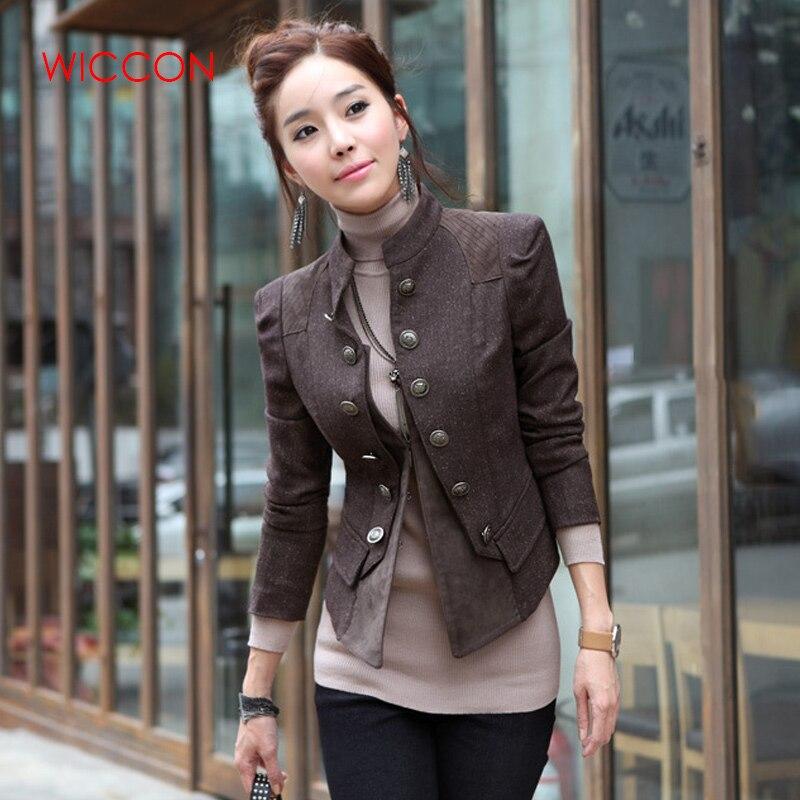 جاكيت نسائي عتيق مزدوج الصدر ، ملابس خارجية ، نحيف ، ريترو ، عصري ، مجموعة خريف 2020 الجديدة