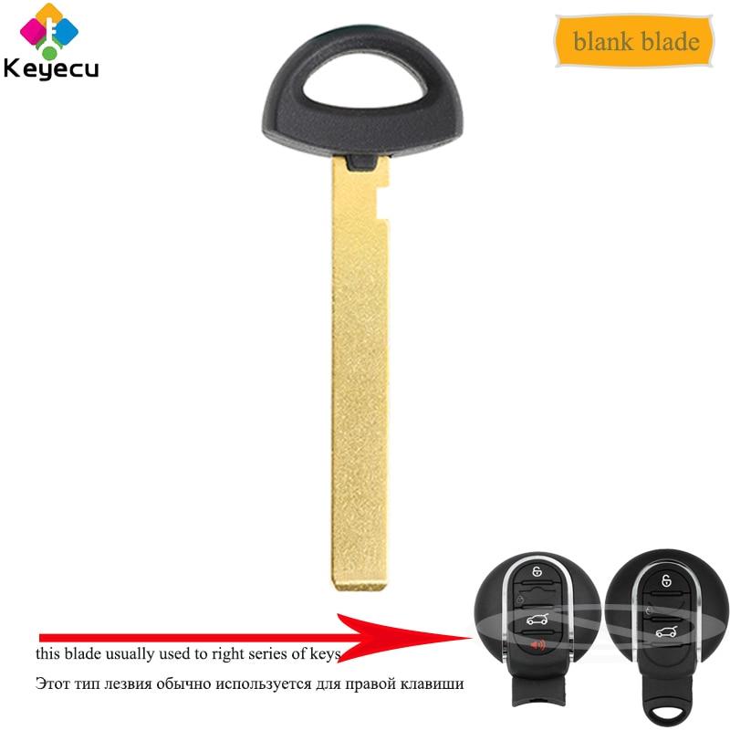 KEYECU Replacement Uncut Insert Emergency Remote Car Key Blade - FOB for BMW Mini R55 R56 R57 R58 R59 R60 MINI Cooper 2015-2018