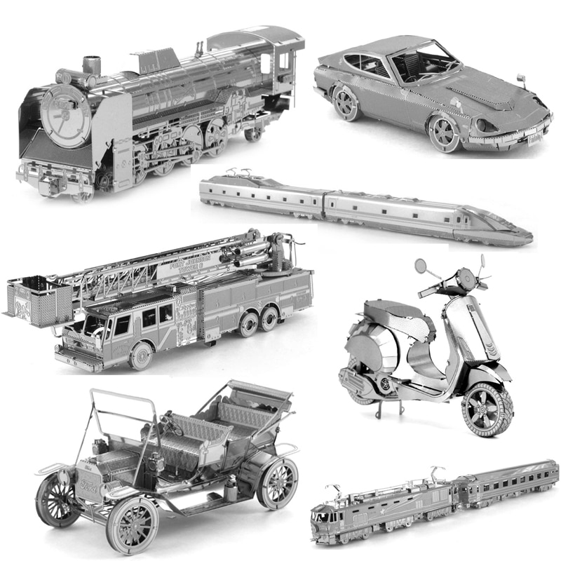 AliExpress - 3D Metal Puzzle Transportation Vintage Car Motorcycle Train model KITS Assemble Jigsaw Puzzle Gift Toys For Children