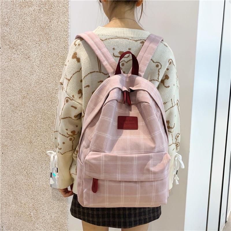 Modna djevojka koledž školska torba povremeni novi jednostavni - Ruksaci - Foto 3