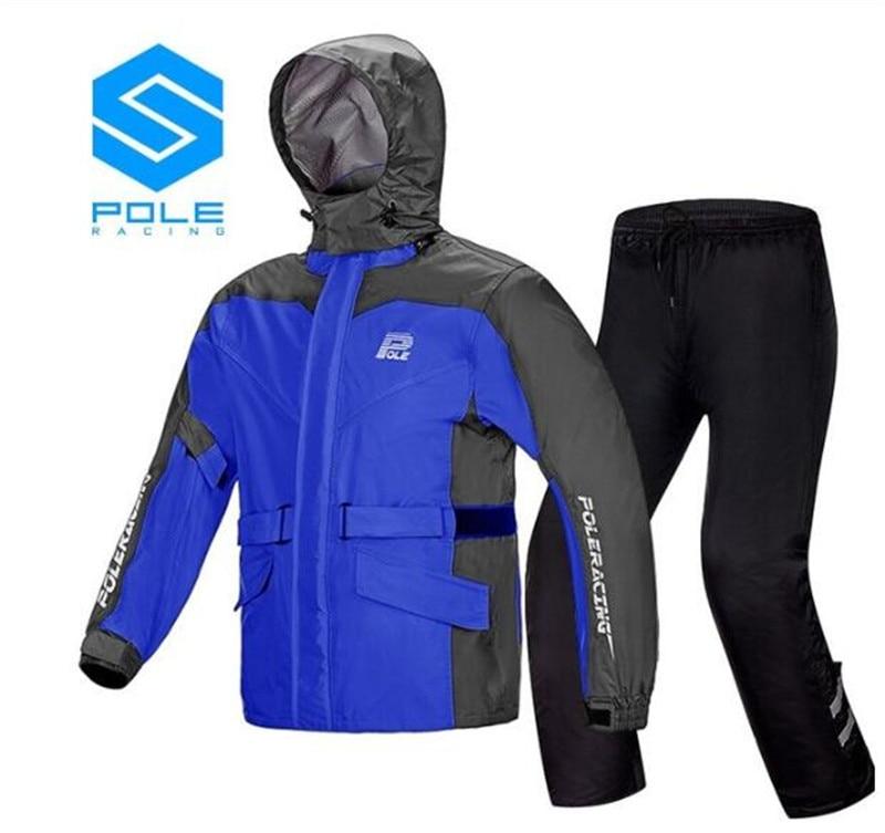 Impermeable de motocicleta de poste + Pantalones de lluvia Moto traje de lluvia Poncho ventilado impermeable chaqueta de lluvia para Moto de montar Moto chubasquero